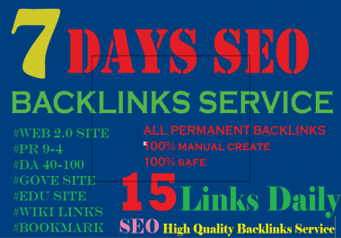7 Days SEO Service Daily Whitehat PERFECT Backlinks