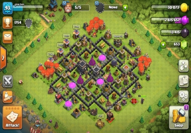 Give COC Clash Of Clans TH 9 still can change name Limited