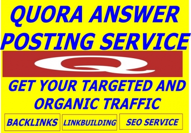 Promote your website on HQ 10 QUORA Answer with Contextual Link