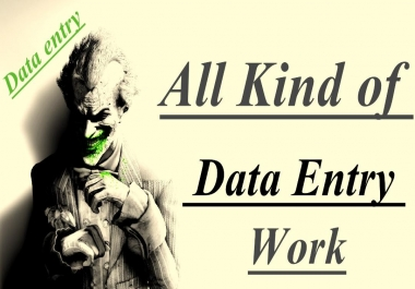 Will complete you data entry work