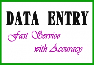 I'll do DATA ENTRY work very fast for you