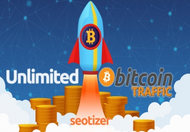Unlimited BITCOIN Targeted Human VISITOR on Website for 30 Days