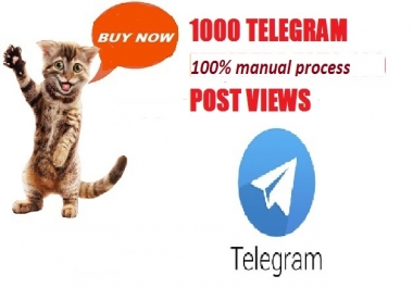 will get 1000 Telegram post views complete within 24 hours