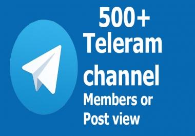 Buy Real active 550+ Telegram Channel Members or Post vie.ws