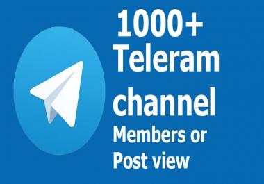 Buy Real Active 110+ Telegram Channel Members or Post vie.ws