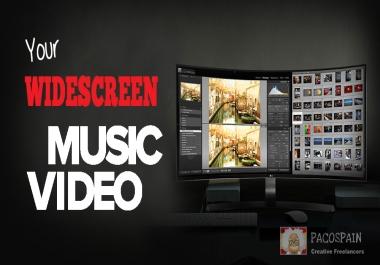 professional widescreen music video