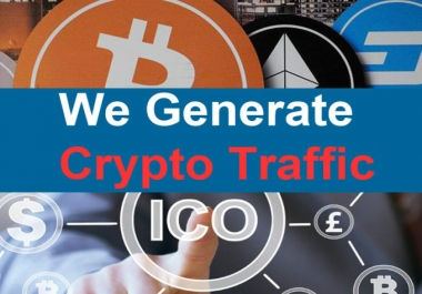 Drive Genuine Cryptocurrency bitcoin traffic for ICO