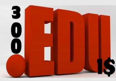 300+ .edu Backlinks Provide now