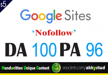 "I will publish UNIQUE guest post on ""Sites.google"" DA-100"