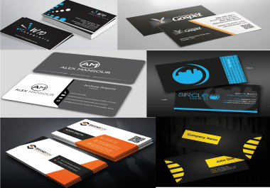 design professional business card unlimited revision within 24 hrs