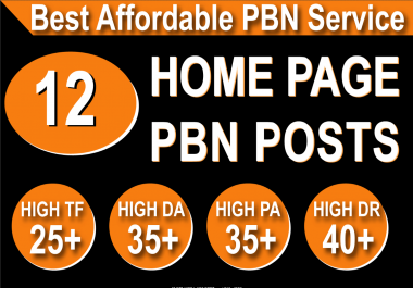 Homepage 12 PBN High 20 Plus DA PA CF TF Moz Authority Expired domain Backlinks
