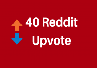 Give you 40 Reddit Upvote to Your Reddit Post