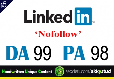"I will publish UNIQUE guest post on ""Linkedin"" DA-99"