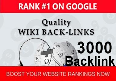 do 3000 Wiki backlink for your link