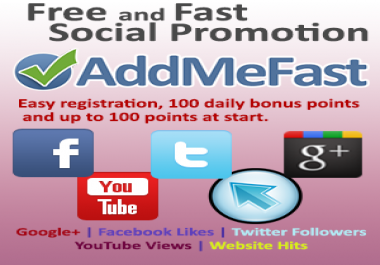 NEW OFFER ! ! ! fill your ADDMEFAST account with 1000 po... for $1