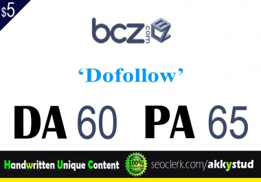 "I will publish UNIQUE guest post on "" bcz"" DA-60"