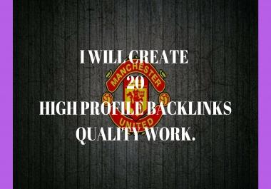 Create 20 high profile backlinks
