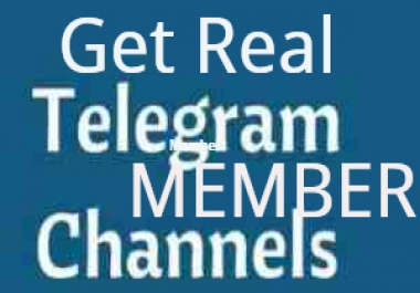 Telegram promotion 1000+ Real and active Telegram channel member