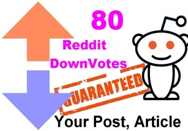 80 reddit upvotes to your reddit post or links or articles