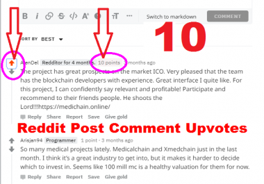10 Reddit Post Comment Upvotes karma Your or Links or Articles