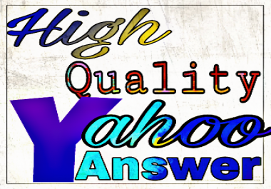 Promote your website 5 high quality yahoo answer
