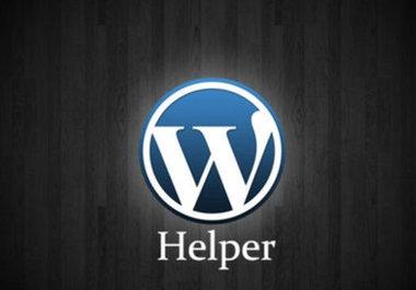 help to setup Wordpress blog for you and 5 plugins and your theme