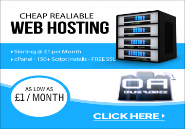 $1 Month cPanel  UK OR USA -SERVER