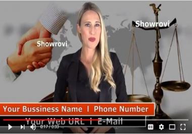 Provide Awesome Custody Attorney Spokesperson Promo Video