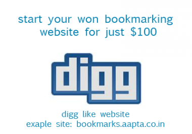 Create a bookmark site for with Hosting and Domain Registration