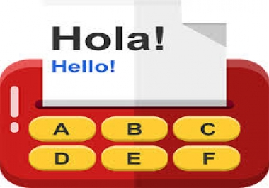 English to Spanish translation and vice versa ($0.01 USD per word)