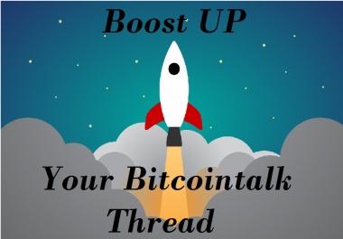 Boost Up Your Bitcointalk Thread