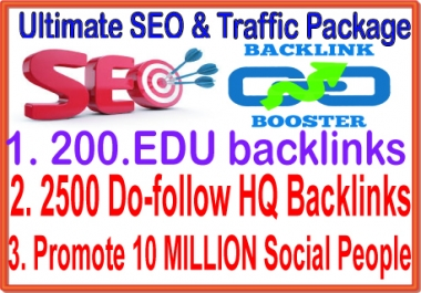 SEO & SMM Top Campaign - 200. EDU Backlinks- 10 Million Social Promotion-2500 Do Follow Backlinks