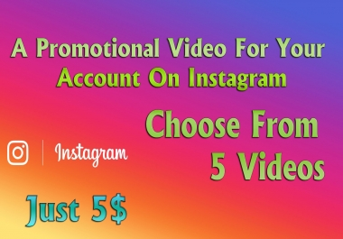 A promotional video for your account on Instagram