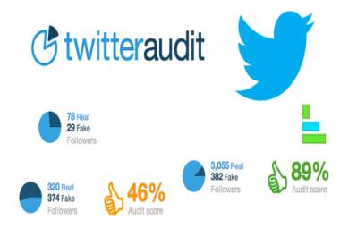 Twitter Audit or Re-audit Twitter Account on twitteraudit.com