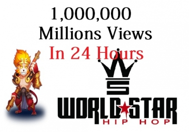done in 1 day 1,000,000 views for worldstarhiphop video world star hiphop