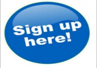 Exclusive 10 Real Human Account Sign Up Join to Your Refferel Or Affiliate Link Within Fast Complete