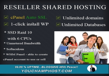 Reseller SSD Shared Hosting With cPanel Auto SSL Ready