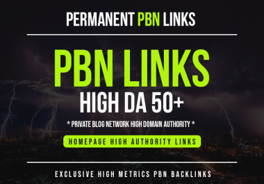 I will Provide you 10 PBN links From 30 to 50+ DA PA sites