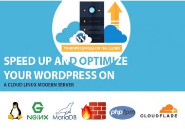 Uniqe Optimized Wordpress + Cloud Nginx SSD VPS setup