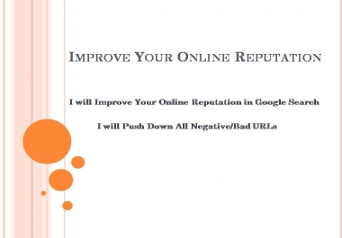 Improve your Online Reputation