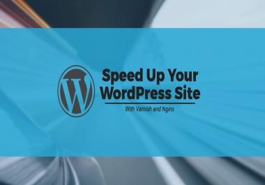 Cloud Nginx SSD VPS setup + Uniqe Optimized Wordpress