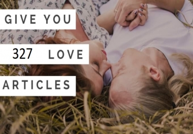give you 328 about Love and sex plr articles and up to 2000 keyword