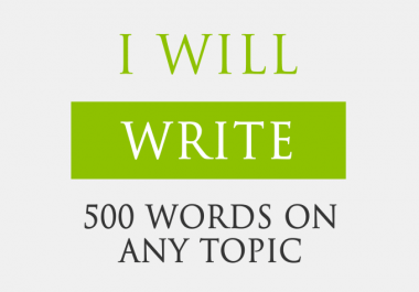 500 words Orignal and Unique Article within 24hrs