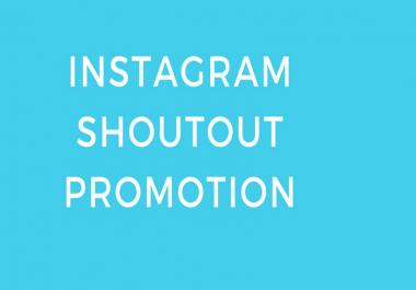 give you instagram shoutout promotion on 1 million backlinks