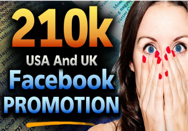 Promote Your link,video,website ..To My 210,000 Real usa and uk Facebook Fans