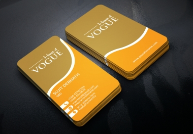 Design a Stunning double side Business Cards  Within 5 Hours