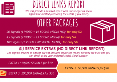 500 Social Signals on Top Social Networks with Direct Links