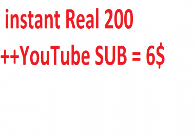 instant Real YouTube SUB with extra bonus