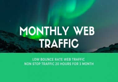 drive USA WEB TRAFFIC For 3 month