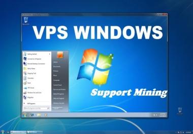 RDP vps windows 4 GB RAM, 2 core 60GB SSD